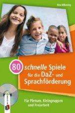 80 schnelle Spiele für die DaZ- und Sprachförderung, m. 1 CD-ROM