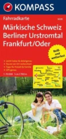 KOMPASS Fahrradkarte Märkische Schweiz - Berliner Urstromtal - Frankfurt/Oder
