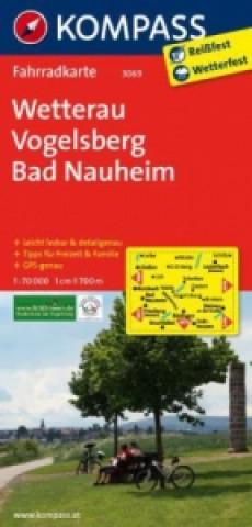 KOMPASS Fahrradkarte Wetterau, Vogelsberg, Bad Nauheim