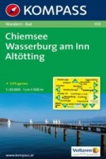 Kompass Karte Chiemsee, Wasserburg am Inn, Altötting