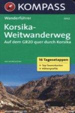 Kompass Wanderführer Korsika-Weitwanderweg