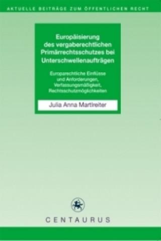 Europaisierung des vergaberechtlichen Primarrechtsschutzes bei Unterschwellenauftragen