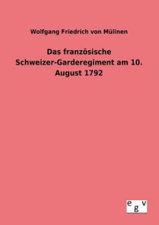 Franzoesische Schweizer-Garderegiment Am 10. August 1792