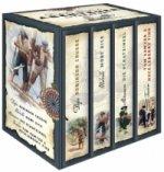 Die großen Klassiker der Abenteuerliteratur (Daniel Defoe, Robinson Crusoe - Herman Melville, Moby Dick - Robert Lous Stevenson, Die Schatzinsel - Mar