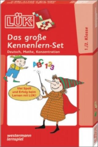 Das große Kennenlern-Set - Deutsch, Mathe, Konzentration für Klasse 1 und 2, m. LÜK Lösungsgerät