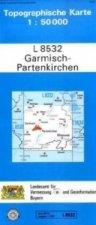 Topographische Karte Bayern Garmisch-Partenkirchen