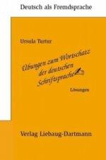 Übungen zum Wortschatz der deutschen Schriftsprache, Lösungen