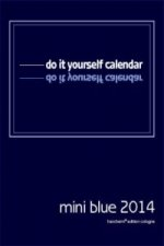 do it yourself calendar, mini blue 2016