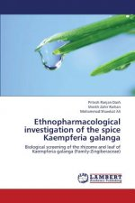 Ethnopharmacological investigation of the spice Kaempferia galanga
