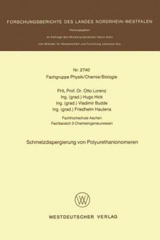 Schmelzdispergierung Von Polyurethanionomeren