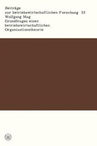 Grundfragen Einer Betriebswirtschaftlichen Organisationstheorie