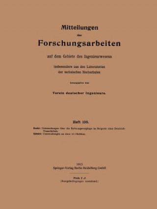 Mitteilungen UEber Forschungsarbeiten Auf Dem Gebiete Des Ingenieurwesens
