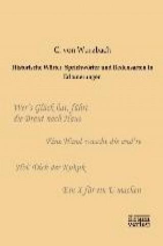 Historische Wörter, Sprichwörter und Redensarten in Erläuterungen