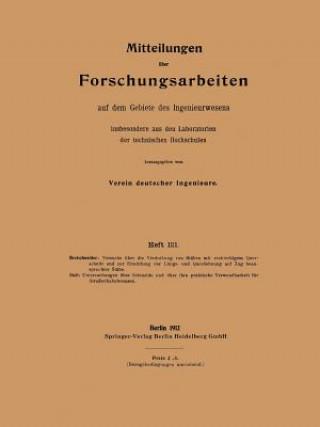 Mitteilungen UEber Forschungsarbeiten