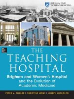 Teaching Hospital: Brigham and Women's Hospital and the Evolution of Academic Medicine