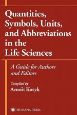 Quantities, Symbols, Units, and Abbreviations in the Life Sciences