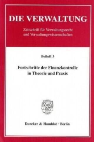 Fortschritte der Finanzkontrolle in Theorie und Praxis