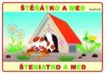 Štěňátko a med - omalovánka