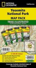 Yosemite National Park, Map Pack Bundle