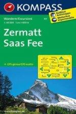 KOMPASS Wanderkarte Zermatt, Saas-Fee