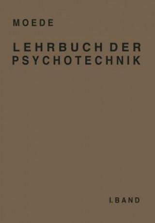 Lehrbuch Der Psychotechnik