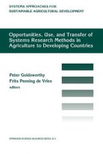 Opportunities, use, and transfer of systems research methods in agriculture to developing countries