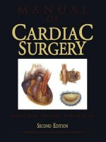 Manual of Cardiac Surgery