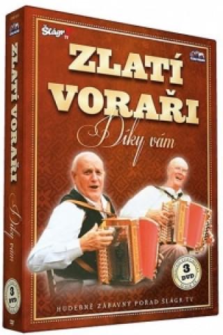 Česká muzika Zlatí Voraři - Díky Vám - 3 DVD