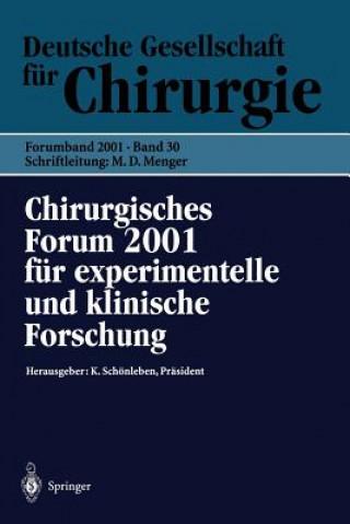 Chirurgisches Forum 2001 F r Experimentelle Und Klinische Forschung