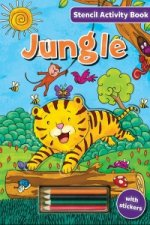 Stencil Activity Book - Jungle