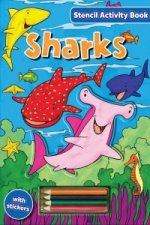 Stencil Activity Book - Sharks