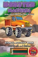 Stencil Activity Book - Monster Machines
