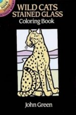 Wild Cats Stained Glass Coloring Book