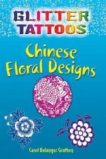 Glitter Tattoos Chinese Floral Designs