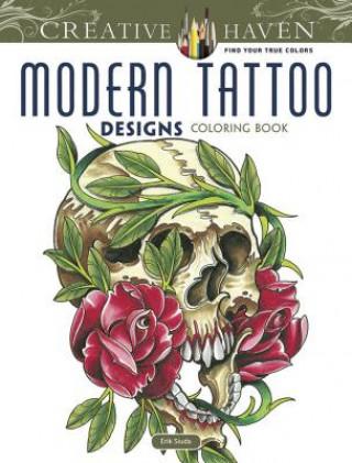 Creative Haven Modern Tattoo Designs Coloring Book