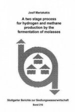 A two stage process for hydrogen and methane production by the fermentation of molasses