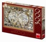 Historická mapa - puzzle 3000 dílků