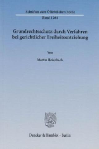 Grundrechtsschutz durch Verfahren bei gerichtlicher Freiheitsentziehung.