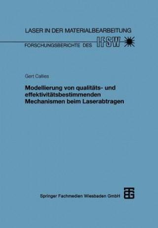 Modellierung Von Qualit ts- Und Effektivit tsbestimmenden Mechanismen Beim Laserabtragen