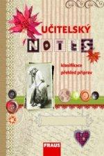 Učitelský notes - s motivem Scrapbook s knoflíky