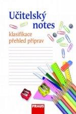 Učitelský notes - s motivem Psací potřeby