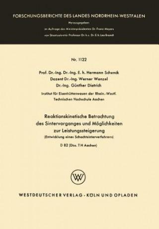 Reaktionskinetische Betrachtung Des Sintervorganges Und M glichkeiten Zur Leistungssteigerung