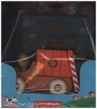 Mein kleines oranges Müllauto Holzauto
