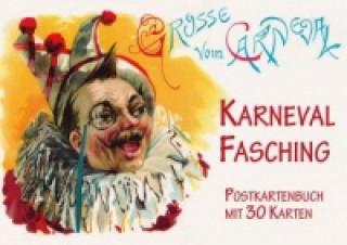 Karneval - Fasching, Postkartenbuch