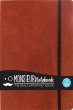 Monsieur Notebook - Real Leather A4 Tan Plain