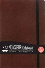 Monsieur Notebook - Real Leather A5 Brown Ruled
