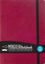 Monsieur Notebook - Real Leather A5 Pink Plain