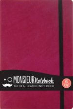 Monsieur Notebook Leather Journal - Pink Ruled Medium A5