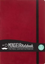 Monsieur Notebook Leather Journal - Red Sketch Medium A5