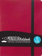 Monsieur Notebook - Real Leather A6 Pink Plain